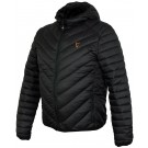 FOX COLLECTION QUILTED JACKET BLACK / ORANGE
