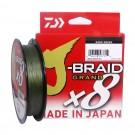 °DAIWA J-BRAID GRAND X8 450 MT. 0,24 MM. PE DARK GREEN