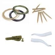 Tutti i tubicini, clip porta piombo e accessori per rigper il carpfishing del catalogo
